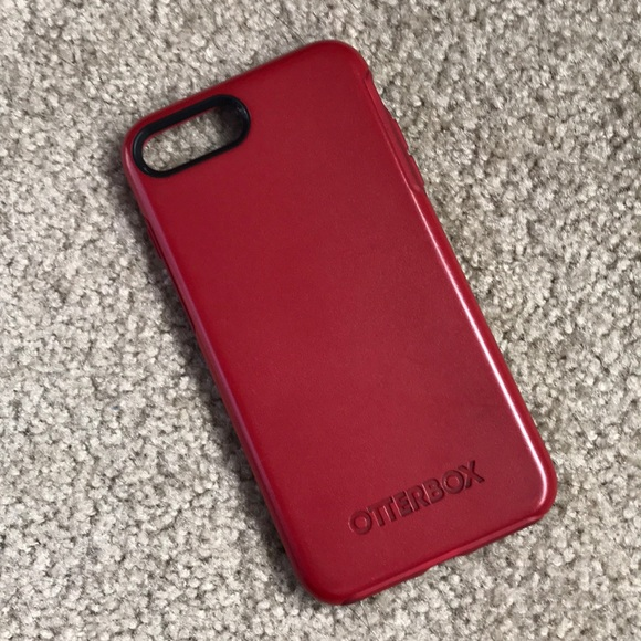 on sale 131b3 46553 OtterBox Accessories | Red Symmetry Case Iphone 7 Or 8 Plus | Poshmark